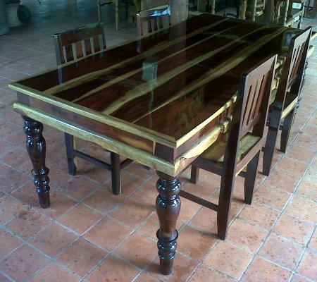 ขายโต๊ะ เก้าอี็ไม้ชิงชัน