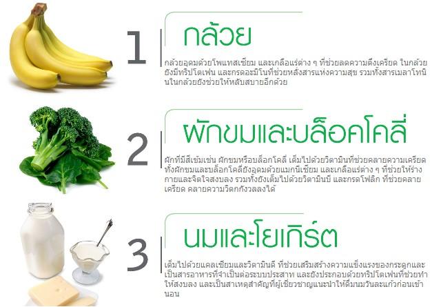 10 อาหารคลายเครียด1