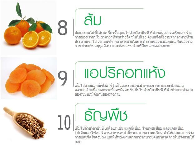 10 อาหารคลายเครียด3