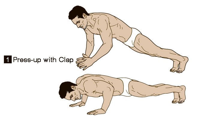 ดูดีทุกครั้งเมื่อต้องใส่ชุดว่ายน้ำ press up with clap