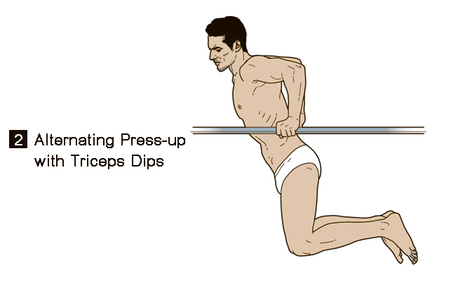 ดูดีทุกครั้งเมื่อต้องใส่ชุดว่ายน้ำ press up with triceps dips