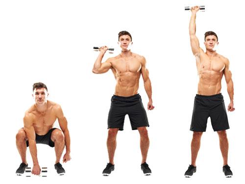 Single-arm standing shoulder press