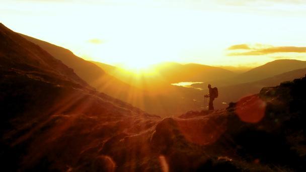 A Hike In Golden Light