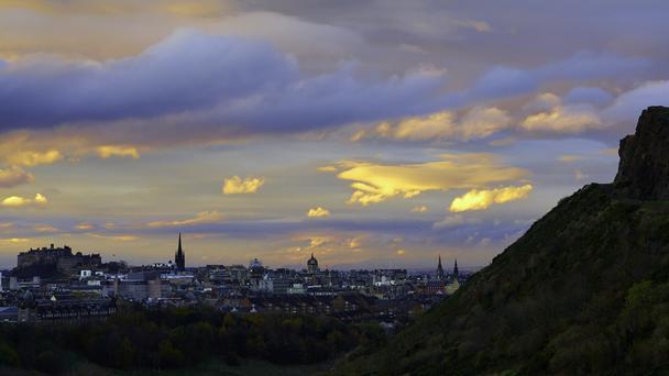 Moody Sky Over Edinburgh