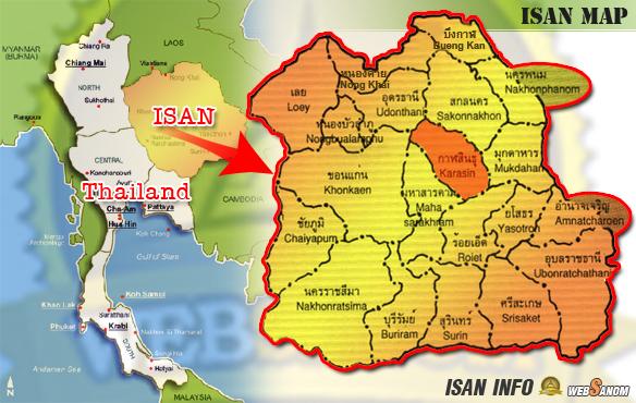 Kalasin Map Isaan