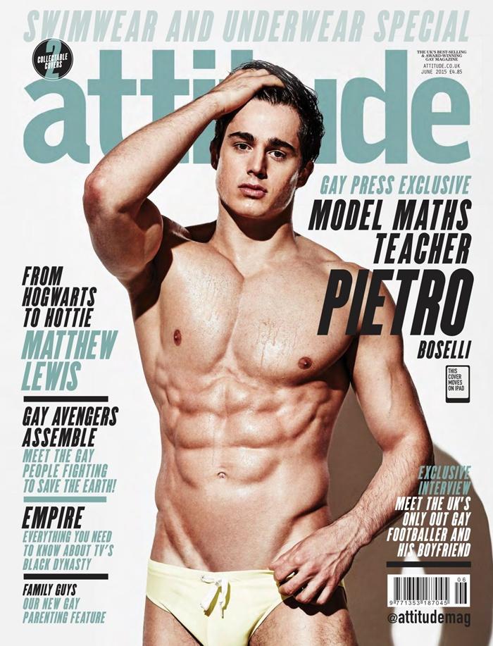 Pietro Boselli @ Attitude UK June 2015