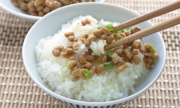 Natto, fermented soybeans